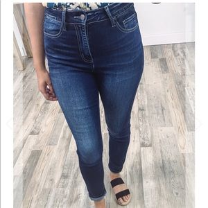 Cello High Rise Ankle Rolled Cuff Skinny Jeans